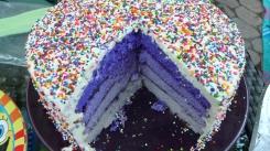 The very purple cake